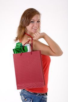 Free Girl With Gift Box Stock Photo - 3064150