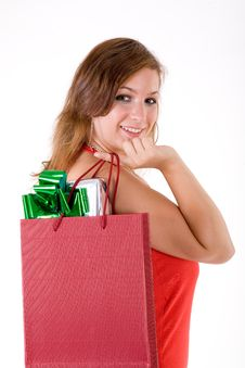 Free Girl With Gift Box Stock Images - 3064164