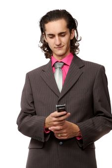 Free Businessman With A Mobile Royalty Free Stock Image - 3064416