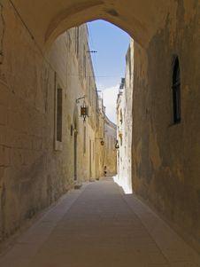 Free Narrow Street In Old Town Stock Photos - 3064673