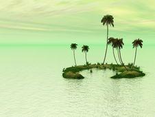 Free Palm Island Stock Image - 3064991