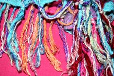 Free Colorful Scarf Fringes Royalty Free Stock Image - 3065846