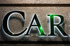 Free CAR Word Glow On Textured Wall Royalty Free Stock Photos - 3066088