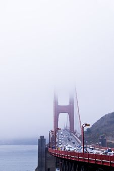 Golden Gate Bridge And Fog Royalty Free Stock Photo