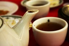 Free Teapot Spout And Teacup Stock Images - 3066174