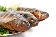 Free Smoked Trouts Royalty Free Stock Photos - 3066178