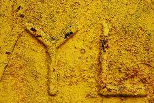 YL Alphabet Grunge Stock Image