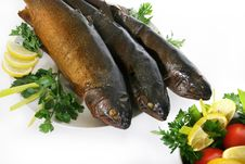 Free Smoked Trouts Royalty Free Stock Photos - 3066198