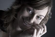 Free Low Key Smile Royalty Free Stock Image - 3066676