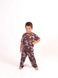 Camo Boy Stock Photos