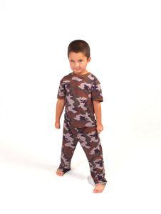 Camo Boy Stock Photo