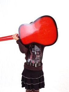 Free Red Guitar Stock Photography - 3067182