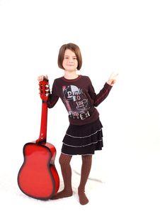 Free Red Guitar Stock Photos - 3067193