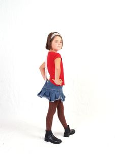 Free Trendy Little Girl Stock Photo - 3067250