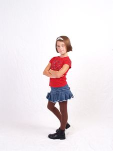Trendy Little Girl Stock Photography