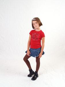 Trendy Little Girl Royalty Free Stock Photos