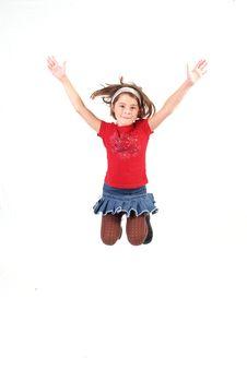 Trendy Little Girl Stock Photo