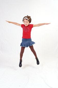 Trendy Little Girl Stock Image