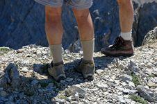 Free Climbing Rocky Ridge Royalty Free Stock Image - 3067366