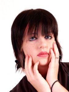Free Brunette Rocker Girl Royalty Free Stock Image - 3067926