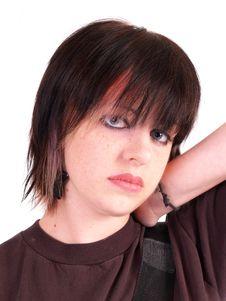 Free Brunette Rocker Girl Stock Images - 3067944
