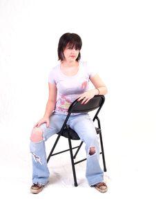 Free Brunette Rocker Girl Stock Image - 3067951