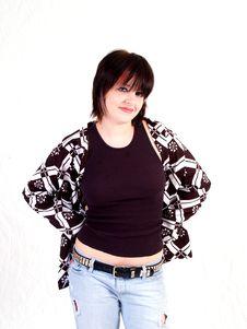 Free Brunette Rocker Girl Stock Image - 3068081