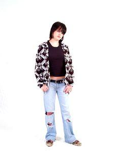 Free Brunette Rocker Girl Royalty Free Stock Image - 3068096