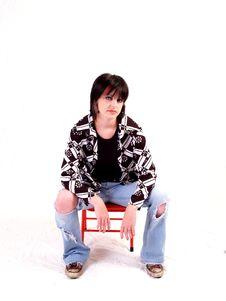 Free Brunette Rocker Girl Royalty Free Stock Images - 3068099
