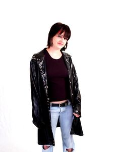 Brunette Rocker Girl Royalty Free Stock Photography