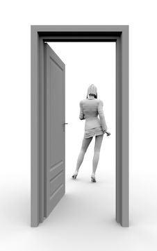 Free Door To Success Stock Image - 3068501