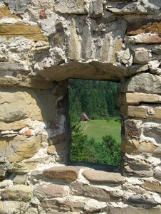 Free Window In A Stone Wall Stock Photos - 3068683