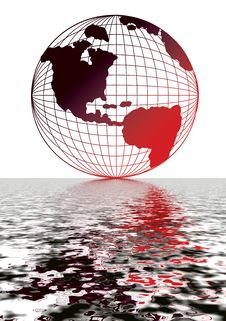 Free Globe With Red Reflection 13 Royalty Free Stock Images - 3069529