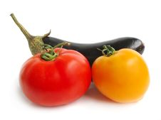 Free Eggplant With Tomatoes Stock Photo - 3069600