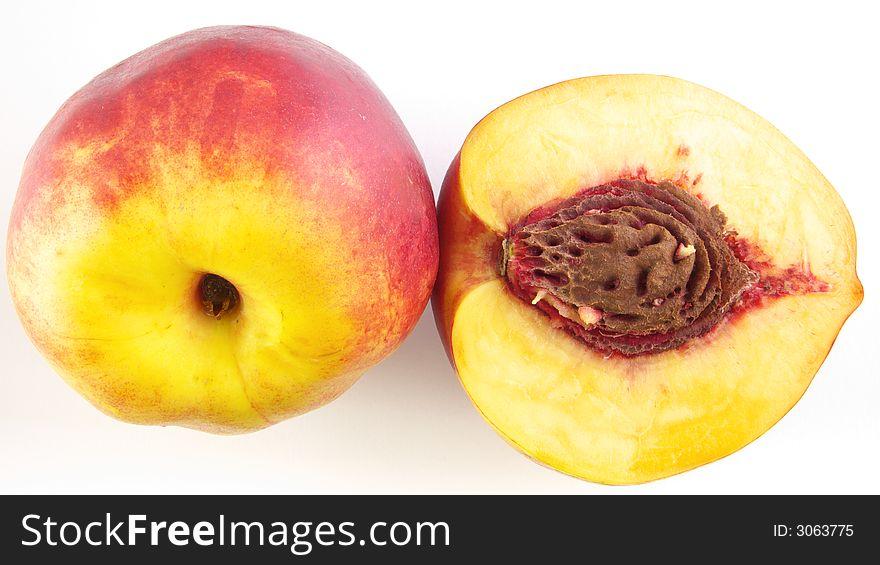 Half peach & peach