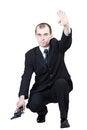Free Professional Man With Gun Royalty Free Stock Image - 30605146