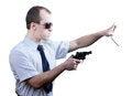 Free Professional Man With Gun Royalty Free Stock Photos - 30605658