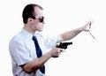 Free Professional Man With Gun Stock Image - 30605671
