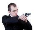 Free Professional Man With Gun Stock Image - 30605791