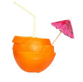 Free Cocktail Of Orange With A Straw And An Umbrella Stock Image - 30609881