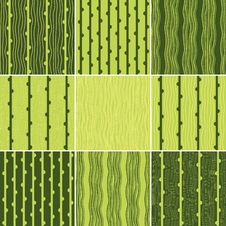 Free Set Of Green Seamless Pattern With Vertical Lines Stock Image - 30602251