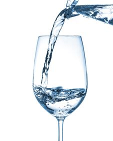 Free Pouring Water On Glass Stock Photos - 30603293