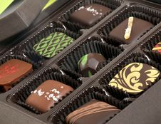 Free Box Of Chocolate Candies Stock Image - 30605871