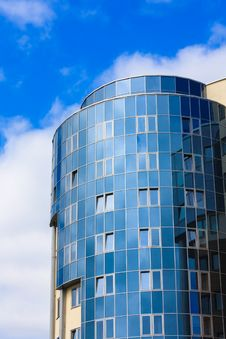 Free Modern Blue Glass Wall Of Skyscraper Royalty Free Stock Photography - 30606537