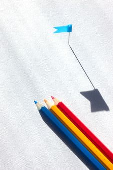 Free Colored Pencils On Paper Royalty Free Stock Image - 30610586