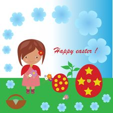 Free Easter Girl Royalty Free Stock Image - 30610706