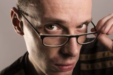 Free Young Man With Glasses Royalty Free Stock Photos - 30619818