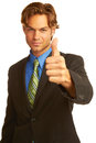 Free Confident Business Man Giving The Big Thumbs Up Royalty Free Stock Photography - 30620187