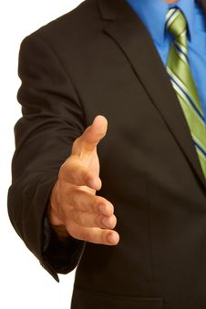 Free Business Man In Suit Offering A Handshake Stock Image - 30620101