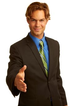 Free Business Man In Suit Offering A Handshake Royalty Free Stock Image - 30620106